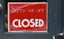 """Closed as in Sorry"" by cogdogblog is licensed under CC0 1.0"